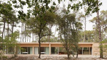 Dům, kde můžete jednou nohou stát v lese a druhou v ložnici