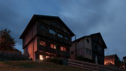 Z rozpadlé stodoly vybudovali luxusní horskou chatu