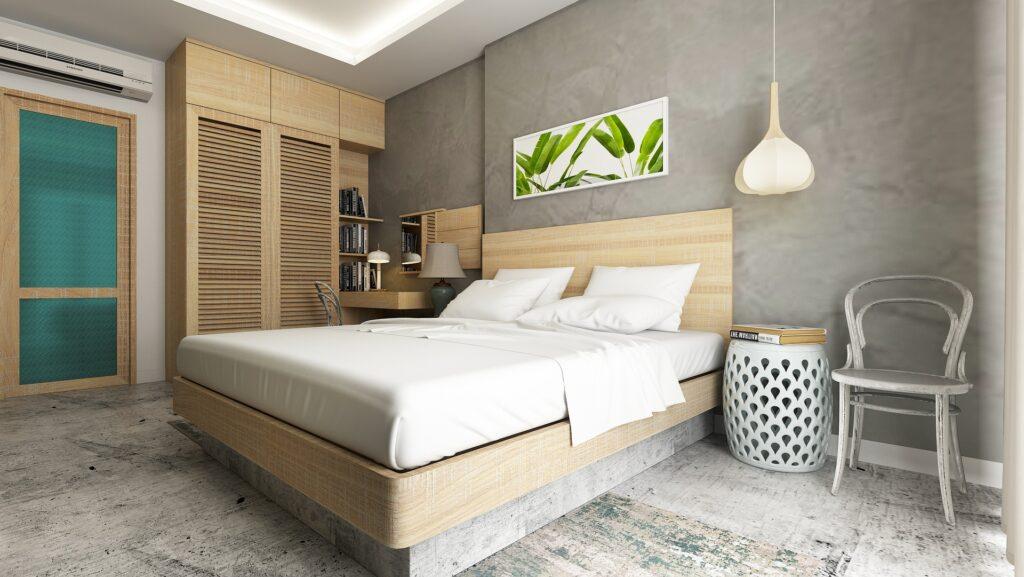 Můžete kombinovat betonovou stěnu i podlahu